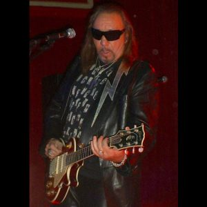 Ace Frehley performing live with his Les Paul
