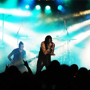 Hinder performing in 2009 at Ramstein Air Base