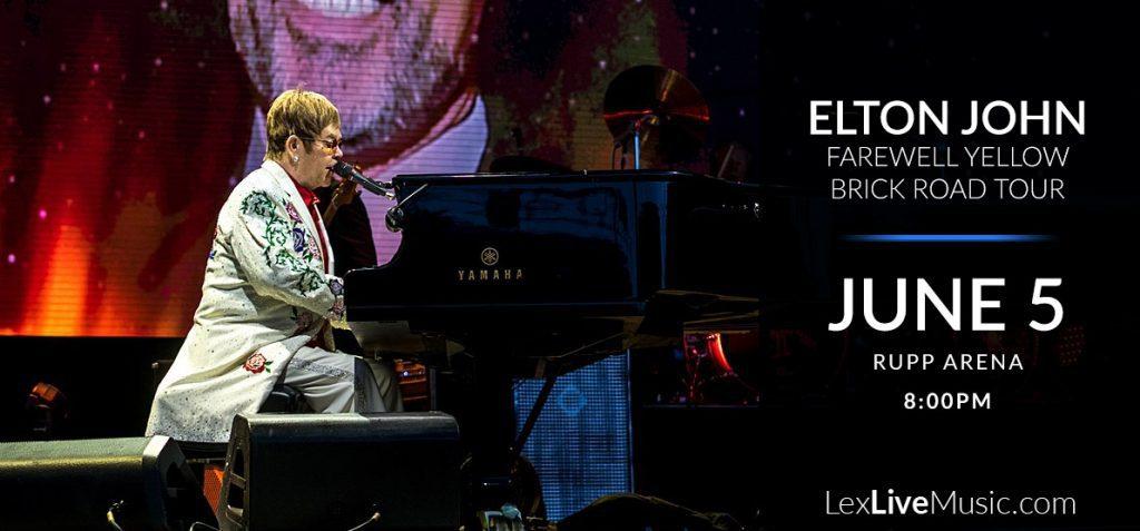 Elton John playing live - Elton John Farewell Yellow Brick Road Tour - June 5 - Rupp Arena - 8:00PM