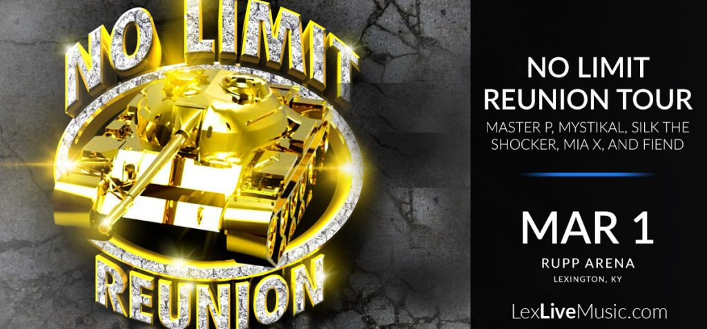 No Limit Reunion Tour - Master P, Mystikal, Silkk the Shocker, Mia X, and Fiend - March 1 - Rupp Arena Lexington, Ky