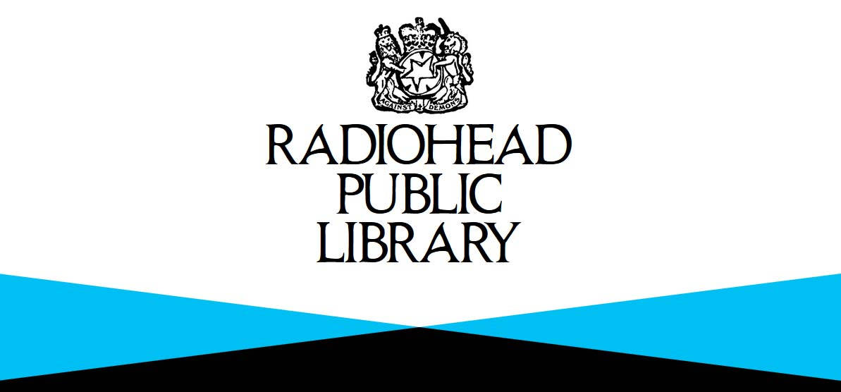 Radiohead Public Library - A Screenshot from the splash page for Radiohead Public Library